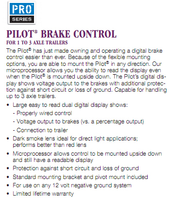 Reese Pilot Brake Controller Wiring Diagram: Reese Electrical Brake Control Systems,Design